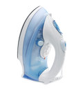 Steam iron on white Stock Photo