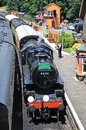 Steam Locomotive in Arley Railway Station. Royalty Free Stock Photo