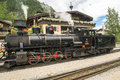 Steam locomotive in austria zillertal bahn whitch is an attraction for tourists austrias valley the background you see a Stock Photo