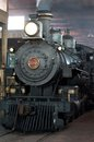 Steam locomotive in depot the tarantula train an authentic waiting to take tourists around fort worth texas Royalty Free Stock Photography