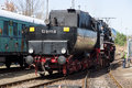 Steam locomotive mba orenstein koppel berlin april the spring festival the exhibition in the rail yard schoeneweide april in Royalty Free Stock Image