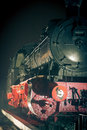 Steam locomotive at night old time train vintage displayed in the tulcea railway station located in tulcea romania Royalty Free Stock Images