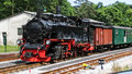 Steam locomotive old rasender roland at the islan rügen germany baltic sea Royalty Free Stock Images