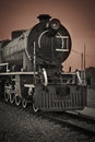 Steam locomotive old at thailand Royalty Free Stock Image