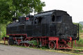 Steam locomotive old time train vintage displayed in the locomotives museum located in resita romania Stock Photo