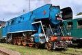 Steam locomotive papousek parrot nedvedice czech republic Stock Photos
