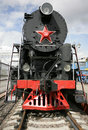 Steam locomotive on a railway Royalty Free Stock Image