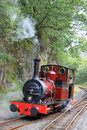 Steam locomotive on Talyllyn railway in Wales Royalty Free Stock Images