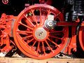 Steam locomotive wheel detail of an old Royalty Free Stock Image