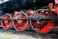 Steam locomotive wheels Royalty Free Stock Photo