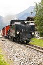 Steam locomotive zillertal bahn in austria whitch is an attraction for tourists austrias valley Royalty Free Stock Images