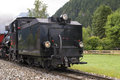Steam locomotive zillertal bahn whitch is an attraction for tourists in austrias valley zillertal Stock Photos