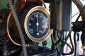 Steam Pressure Guage Stock Photo