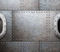 Steam punk abstract metal background Royalty Free Stock Photo