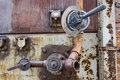 Steam regulation valve old rusted Royalty Free Stock Photography
