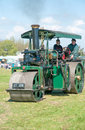 Steam roller vintage at county fair Stock Photos