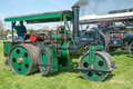 Steam roller vintage on show at a country fair at evesham england april Royalty Free Stock Image