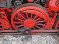 Steam train detail of ancient locomotive vehicle Stock Photos