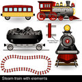 Steam train with elements Stock Images