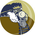 Steam train or locomotive Stock Images
