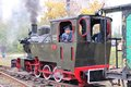 Steam train in poland bytom september enthusiast rides old narrow gauge on september bytom september regional narrow Stock Photography