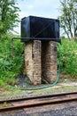 Antique steam train water tower