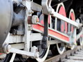 Steam train wheels Royalty Free Stock Image