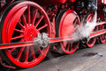 Steam train wheels Royalty Free Stock Photo