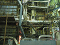 Steam turbine machinery, pipes, tubes Royalty Free Stock Photo