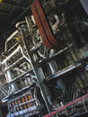Steam turbines, machinery at power plant Stock Photo