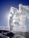 Steam vents as Lion Geyser blows Stock Photos
