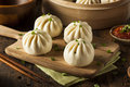 Steamed BBQ Pork Asian Buns Royalty Free Stock Photo