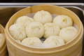 Steamed bun in steamer