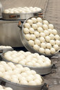 Steamed buns the in steamer Stock Photo