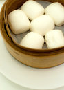 Steamed chinese bun Stock Images