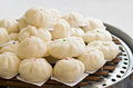Steamed dumpling group of for sale at a restaurant Royalty Free Stock Photo