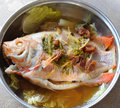 Steamed fish Stock Image