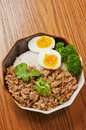 Steamed meat and egg Royalty Free Stock Photo