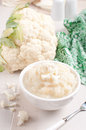 Steamed and pureed cauliflower Royalty Free Stock Photo