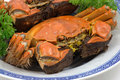 Steamed shanghai crabs Stock Image