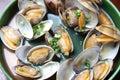 Steamed Shellfish Royalty Free Stock Photo