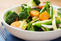 Steamed vegetables in a bowl Royalty Free Stock Photo