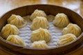 Steamed Xiao Long Bao dumplings ready to eat! Royalty Free Stock Photo