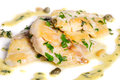 Steamed zander fish fresh water fillet with fresh herbs Stock Images