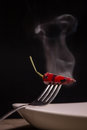 Steaming chili Royalty Free Stock Photo
