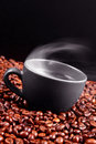 Steaming coffee Royalty Free Stock Images