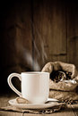 Steaming Coffee Royalty Free Stock Photo
