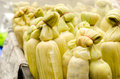 Steaming fresh corn selling at street market Royalty Free Stock Photo