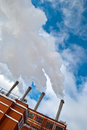 Steaming heat and power plant in kiev ukraine Royalty Free Stock Photos