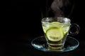 Steaming hot lemon water Royalty Free Stock Photo